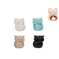 10cm Cute Owl Oil Burner Ceramic, Burning Oils or Wax Melts