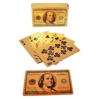 Deck of Playing Cards $100 USD Gold Foil, Dollar Sign Backs, High Quality