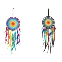 27cm Rainbow Dream Catcher, Comes in Two Designs, Home Deco
