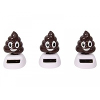 Novelty Poo Solar Powered Groover, Grooving Emoticon
