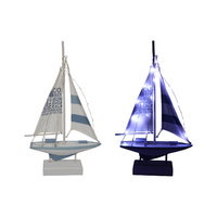 1pce 45cm Beach Sailing Boat Decor with Fairy Lights Detail