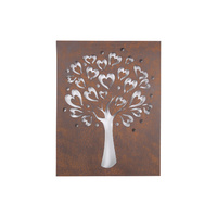 30cm Metal Tree of Life Wall Art Frame with Heart Detailing