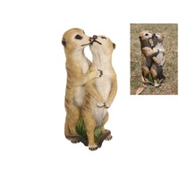 1pce 35cm Kissing Meerkat Couple Figurine Statue