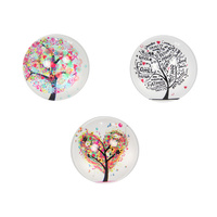1pce 5cm Glass Tree of Life/Family Tree Magnet Decor