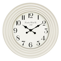 57cm Wall Clock with Ripple Frame Design, Victorian Style