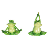1pce 15cm Meditating Yoga Frog Quirky Figurine