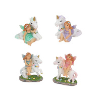 5cm Fairy Riding Unicorn Figurines for Fairy Garden Collectables