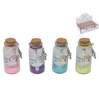 New 1pce Unicorn wish Jar Mini 6cm x 2.5cm 4 Assorted colours
