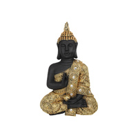 New 1pce 40cm Gold & Black Buddha Wall Art Plaque Resin Rulai