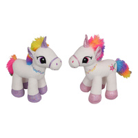 New 1pce 30CM Plush Rainbow Unicorn Cushion Selected at Random