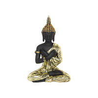 1pce 35cm Buddha In Matte Black with Metallic Gold