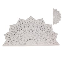 1pce 79cm White Mandala Wall Art Dual Hanging Carved Boho Home Décor