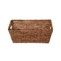 1pce 35x15cm Natural Seagrass Storage Basket Plant Magazine Holder Boho Home Décor