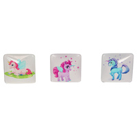 1pce 5cm Unicorn Featured Glass Magnet
