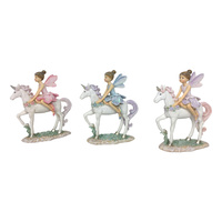 New 1pce 13CM Fairy Princes on Unicorn 3 Assorted Selected at Random