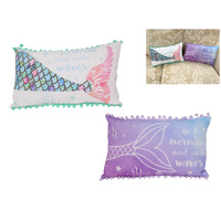 1pce 40x24cm Mermaid Quote Display Cushion