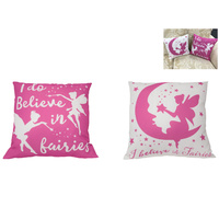 1pce 40cm I Do Believe In Fairies Print Display Cushion