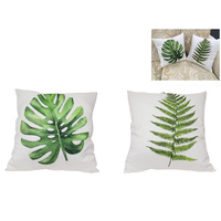 1pce 40cm Greenery Print Display Cushion Tropical Style