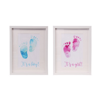 1pce 45cm Framed Baby Feet Print Baby Shower Decoration