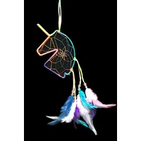 30cm 1pce Funky Unicorn Mini Dream Catcher Rainbow