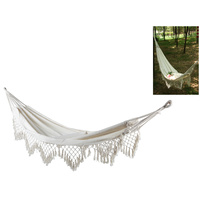 New 2m x 1m White Hammock In Carry Bag Ready to be Hung Weight Rating 100kg