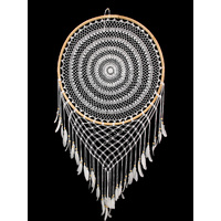 New 1pce Jumbo 80cm Diameter Crochet Dream Catcher with Bamboo Hoop