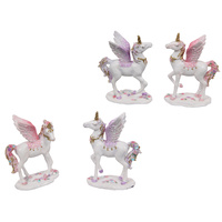 New 1pce 9cm Glitter Flying Unicorn Resin Orniment