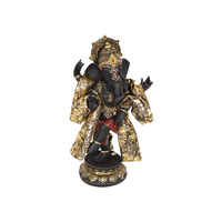 33CM DANCING GOLD GANESH W/ROBE