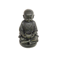 New 1pce 26cm Buddha Monk with Offering Bowl in Meditation Pose