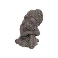 28CM Cute Buddha in Resting Position Antique Look Resin