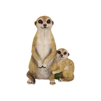 New 28cm Mother and Child Meerkat Statue Hugging so CUTE!!!