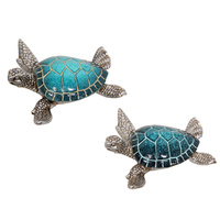 1pce New 12.5cm Blue Turtle with Silver Body Light / Dark Assorted