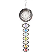 60cm Seed of Life Spiral with Illusion Mirror Mobile with 7 Chakras