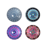 New 1pce 5cm Diameter Boho Magnets w/ Mandala Designs