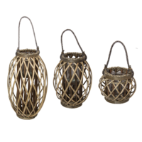 New 1pce Natural Wicker Plant Holder 3 Sizes to Choose From Indoors or Outdoors