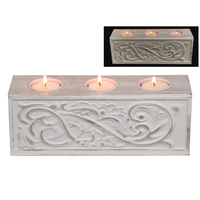 New 1pce 23cm Filigree Candle Holder Shabby Chic White Decor