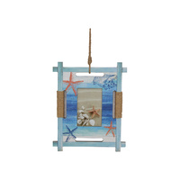 New 1pce 33X26CM Beach Themed Hanging Photo Frame with Starfish Decor