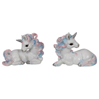 New 1pce 13cm Unicorn Pink and Blue 2 Assorted Resin Ornament