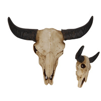 New 1pce 15cm Resin Cow Skull Wall Hanging Boho Resin