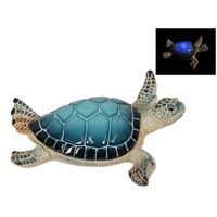 New 1pce 16CM Light Blue Resin Turtle Swimming Pose Realistic Looking