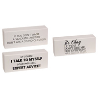 New 1pce 20cm Funny Word Block Paper Weight Office Joke