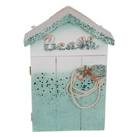 New 1pce 26cm Beach Key Rack MDF Glitter Themed Shells Trinkets Home Decor