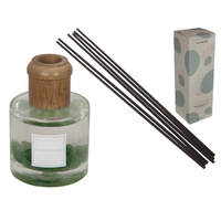 New 1pce 90ml / 25cm Fig and Sandalwood Premium Aromatherapy Diffuser with Gemchips in Gift Box