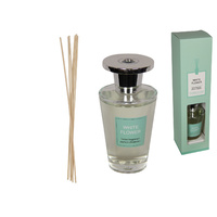 New 1pce New 29cm White Flower Premium Aromatheraby Diffuser 150ml in Gift Box