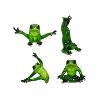New 1pce Yoga Frog 10cm Green Marbled Look