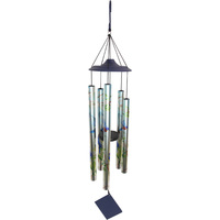 1pce 90cm 5 Tubes Blue Bird Tuned Windchime Metal Outdoor Safe Hanging High Tone