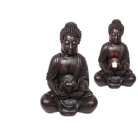 1pce 66cm Rulai Buddha with Lotus Candle/Incense Holder Resin Outdoor Décor
