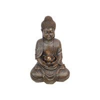 1pce 48cm Rulai Buddha Water Fountain with Yellow LED Pump & Power Included