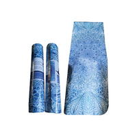 1pce 172cmx61cm Blue Mandala/Feather Yoga Mat 6mm Thick Comfortable