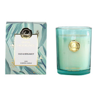 220g Oud/Bergamot Luxury Scented Candle in Glass Jar & Gift Box